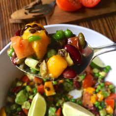 Tex-Mex Mango Bean Salad