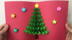 Christmas Pop Up Card Pop Up Christmas Cards, Christmas Pops, Homemade Christmas Cards, Pop Up Cards, Christmas Greeting Cards, Christmas Greetings, Handmade Christmas, Christmas Crafts, Vintage Greeting Cards