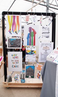 Craft Fair Display Unit for Prints & Cards