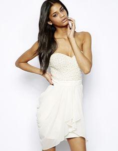 Long sleeve white lace dress high gloss fashion