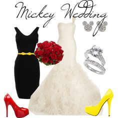 Mickey wedding, created by prettybritty3820 on Polyvore