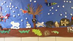 Animals in the Winter Class Mural
