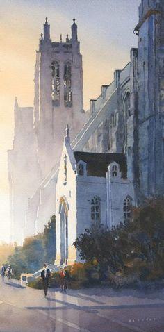 "Michael Reardon Saint Dominic's, San Francisco 20"" x 10"""