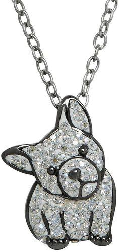 Animal Planet Crystal Sterling Silver French Bulldog Pendant Necklace | Ooh La La — 32 Fabulous French Bulldog Gifts | POPSUGAR Pets
