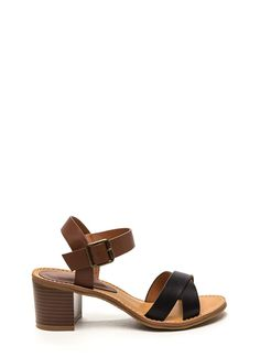 X-Press Yourself Faux Leather Heels