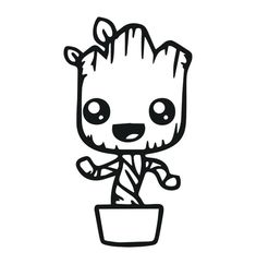 Baby Groot Drawing, Yoda Drawing, Guardians Of The Galaxy, Baby Groot Tattoo, Groot Guardians, I Am Groot, Dancing Baby, Fathers Day Crafts, Custom Vinyl