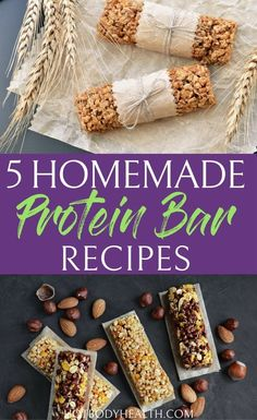 5 Homemade Protein Bar Recipes for a Fit Life - HBI Labs Inc Making the best protein bars recipes is key to a healthy diet and lifestyle. These tasty protein bars are perfect as meal replacements or snacks on the go. No-Bake Blueberry Protein Bar Quick Healthy Desserts, Healthy Protein Snacks, Protein Bar Recipes, Diabetic Snacks, Diet Snacks, High Protein, Eating Healthy, Healthy Breakfasts, Protein Cake