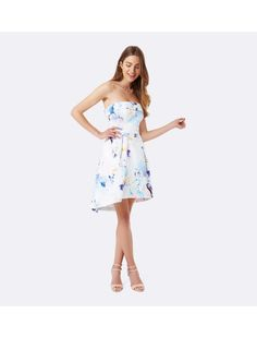 Alicia strapless prom dress Digital Floral Print - Womens Fashion | Forever New