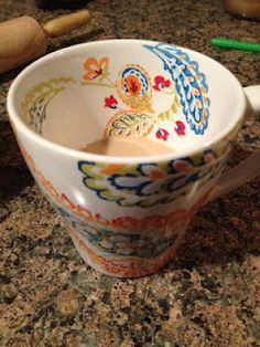Pier 1 Happy Paisley White Mug