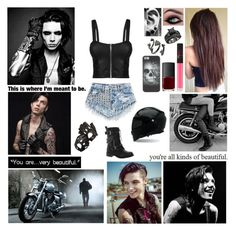✖ We're the long lost children running to the edge of the world. Everybody wants to throw us away. Broken boy meets broken girl. You said you tried it all before and it only makes it worse. Oh but this time, maybe this time two wrongs make it right. ✖ by blueknight on Polyvore featuring polyvore, fashion, style, Cameo Rose, Kendra Scott, Aspinal of London, NARS Cosmetics, Revolver and clothing