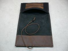 """Black-Handcrafted-Sauvage-Leather-Tobacco-Pouch-Handmade-Rolling-Cigarettes-Case  Dimensions: folded: 15.5cm x 8cm - (6.1"""" x 3.15"""") unfolded: 15.5cm x 24cm - (6.1"""" x 9.45"""")"""