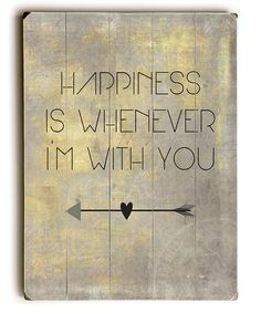 Another great find on #zulily! 'Happiness is Whenever I'm With You' Wall Sign #zulilyfinds
