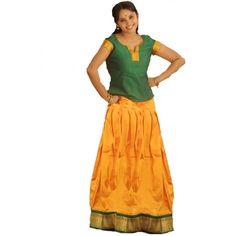 South India Pavada Pavadai Chatta chattai Girls Girl Skirt Blouse Lehenga Costume