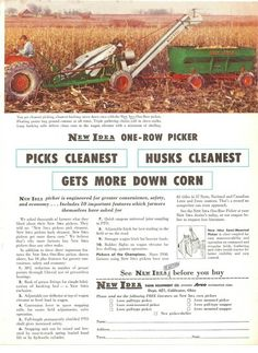 NEW IDEA 1-Row Corn Pickers Ad