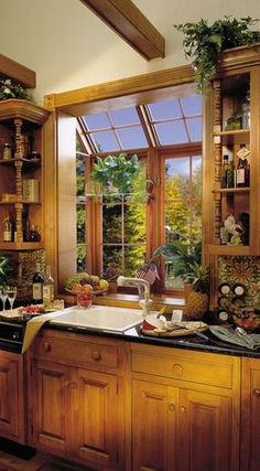 I would LOVE a huge garden window in the kitchen.