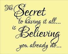 Believe it❤