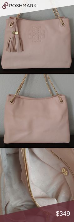 82394eb8d4f Tory Burch Thea Shoulder Bag w  Tassels Authentic Tory Burch Thea bag w   tassels