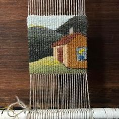 In a cabin, in a canyon...there were some flowers in jug. #fourselvedgetapestry #tapestrydoodle #naturaldye #tapestryweaversofinstagram