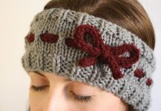 Items similar to Burgundy and Grey Bow Headband/Ear Warmers on Etsy Items simila. Items similar to Burgundy and Grey Bow Headband/Ear Warmers on Etsy Items similar to Burgundy and G Loom Knitting, Baby Knitting, Crochet Baby, Knitting Patterns, Knit Crochet, Crochet Patterns, Headband Pattern, Knitted Headband, Knitted Hats
