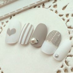 What manicure for what kind of nails? - My Nails Nail Art Hacks, Easy Nail Art, Manicure, Gel Nagel Design, White Nail Art, White Art, Japanese Nails, Nagel Gel, Perfect Nails
