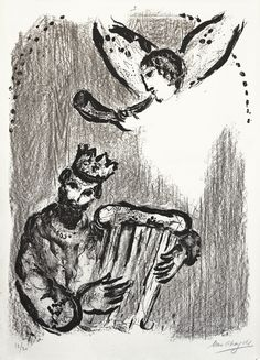 Marc Chagall - David and the Angel (David et L'Ange) - Annex Galleries (IFPDA)