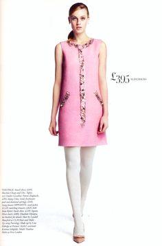 Moschino Cheap and Chic na Harpers Bazaar FW 13-14 /// Tecido Focus: Alfaiataria Boucle Span #alfaiatarias