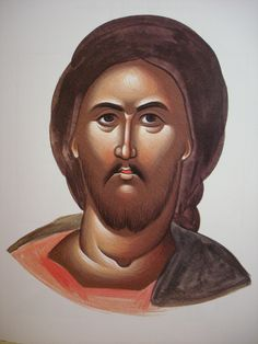 Face of Christ. Style of Theophanes. Stage 4.
