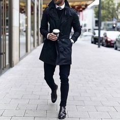 perfect // menswear, mens, style, fashion, monk straps, trench, navy, black, fall, nyc, street