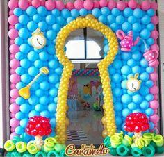 Balões Alice no País das Maravilhas