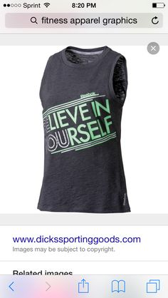 5bb301abf03 KD graphics NIKE Muscle Tank Tops, Fit Chicks, Believe In You, Reebok,