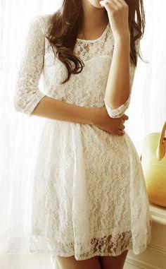 Mesh Heart Lace Dress - Apricot
