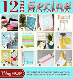 Spring printable blog hop