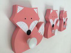 Dieses umweltfreundliche Fuchs-Wandhaken wird Spaß und Funktion ein Kinderzimmer oder ein Hauch von handgefertigten Spaß zu einem Hause