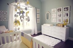 baby boy yellow and gray nursery | ... and soothing feel to it. It's a wonderful room for a new baby boy