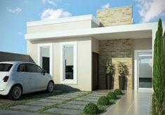 fachadas de casas pequenas clean #casasmodernas