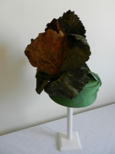 Raymond Hudd pillbox hat with cabbage