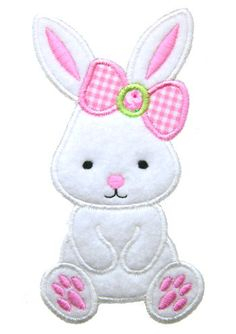 Machine Embroidery Design Sweet BunnyApplique Instant Download 4039 - 2 Sizes