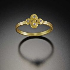 Raised Dot Diamond Ring | Ananda Khalsa Jewelry