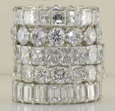 Tower of diamond eternity bands.....