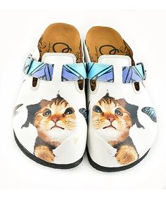 Add some cheeky personality to your ensemble with these mules that boast a playful cat motif. Cat Shoes, Shoe Boots, Nine Lives, Kinds Of Shoes, Cool Designs, Slippers, Take That, Kitty, My Style