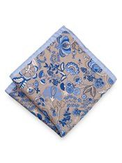 Italian Silk Botanical Printed Pocket Square