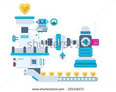 factory flat design - Pesquisa Google Maker Fun Factory Vbs, Chocolate Factory, Illustrations, Flat Design, Doodle Art, Vector Art, Royalty Free Stock Photos, Doodles, Industrial
