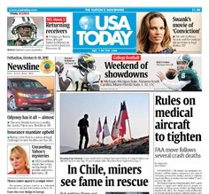 USA Today with Newspapers and Tabloids. Provides a daily snapshot of the top News, Money, Sports and Life news across the country and around the world. http://www.farmersmarketonline.com/a/newspapers.htm
