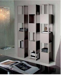 Powder coated steel bookcase JOKER By Cattelan Italia design Giorgio Cattelan Bookshelf Design, Bookshelves, Bookcase, Italia Design, Joker, Shelving, Dining Table, Lounge, House Design