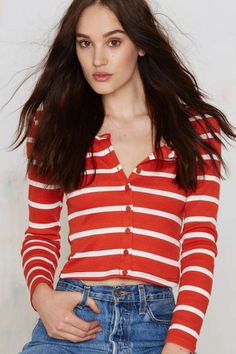 Glamorous Linin' Up Ribbed Top