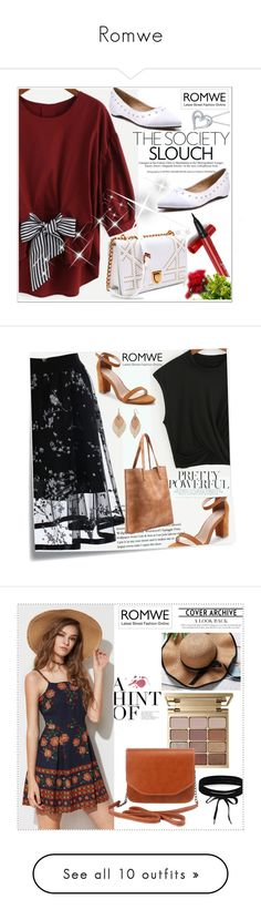 """""""Romwe"""" by adelisa56 ❤ liked on Polyvore featuring romwe, Post-It, Bold Elements, Estée Lauder, Urban Decay, Old Navy, Nine West, Clinique, French Connection and vintage"""