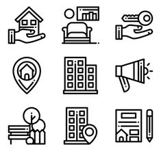 icon packs of building Building Icon, Font Free, Search Icon, Edit Icon, All Icon, Icon Pack, Icon Font, Vector Icons, Website Template