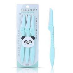 3-Piece Set: Eyebrow Razor Brand from China: YOUSHA. Color: Set of 3 - Mint Green, Materials: ABS, Stainless Steel, Size: One Size: Length: 15cm, Care: N/A price:5.90 Eyebrow Razor, Green Materials, Facial Care, Mint Green, 3 Piece, Eyebrows, Abs, Stainless Steel, China