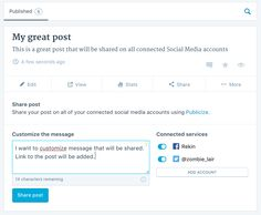 Publicize makes it easy to share your site's posts on several social media networks automatically when you publish a new post.