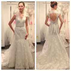 2016 New Custom Made Vestio Mermaid Wedding Dresses V Neck Lace Backless Beaded Sequins Ribbon Plus Size Bridal Gowns With Cap Sleevesba0553 Bridal Wedding Couture Wedding Gowns From Allanhu, $172.78| Dhgate.Com